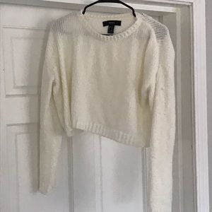 Forever 21 cropped cream sweater